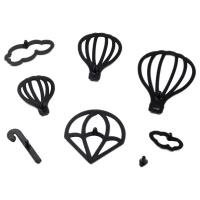 HB1099B Plastic 8pcs Hot Air Balloon Shape Cake Fondant Press Cookie Cutters Decoration Molds set