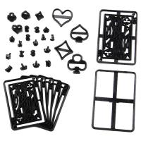 HB1099H Plastic Poker Theme Shape Cake Fondant Press Cookie Cutters Decoration Molds set