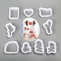 HB1100D Plastic 9pcs Valentine's Day Theme cookie embosser mold set
