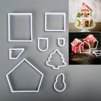 HB1100E Plastic 8pcs Christmas Theme cookie embosser mold set