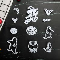 HB1101K Plastic Halloween Shapes Cake Fondant Press Mold set