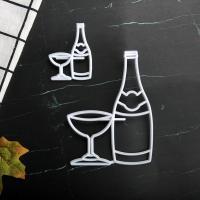 HB1101M Plastic Cup&Bottle Shapes Cake Fondant Press Mold set