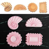 HB1101S Plastic Shell&Conch Shapes Cake Fondant Press Molds set