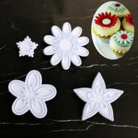 HB1101U Plastic Flowers Shapes Cake Fondant Press Molds set
