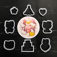 HB1101V Plastic Hello Kitty Shapes Cake Fondant Press Molds set